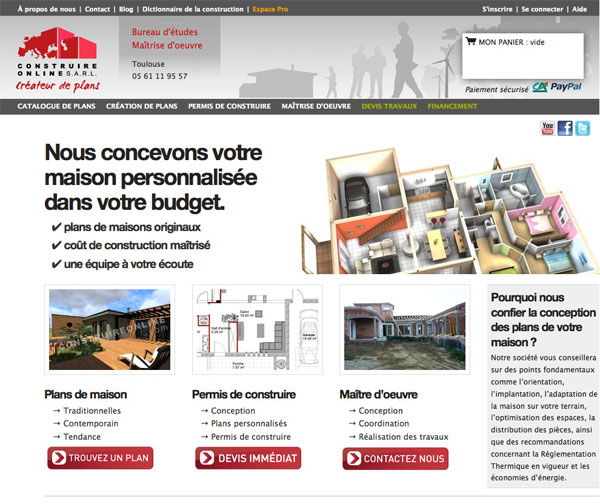 Construire online com plan de maison catalogue construire for Catalogue plan maison