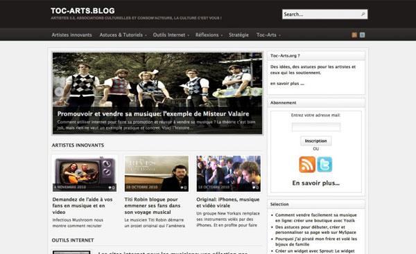 site d'information et de resources pour les artistes et les associations culturelles